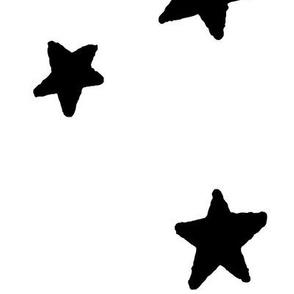 JUMBO stars black and white doodled ink 500% scale