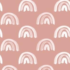 Rainbow Row on Pink