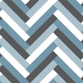 herringbone (blue)