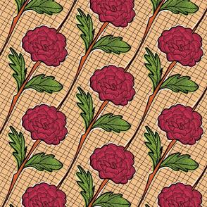 Batik Roses in Red
