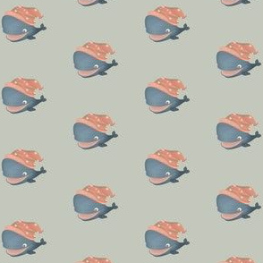 Baby whale on neutral background