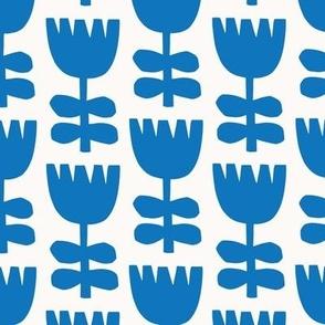 Scandi Floral   Blue