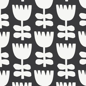 Scandi Floral | Black + White