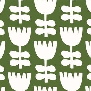 Scandi Floral   Green