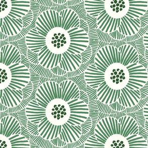 overlapping camellia/cream green/medium
