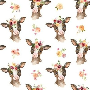Miss Cow - Baby Girl Farm Fabric