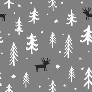 Scandinavian winter background