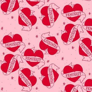 Feminist Tattoo Love Hearts