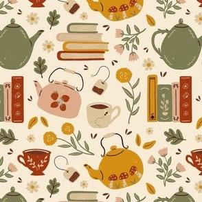 Flowery Books and Tea