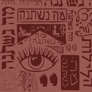 Ma Nishtana Passover maroon