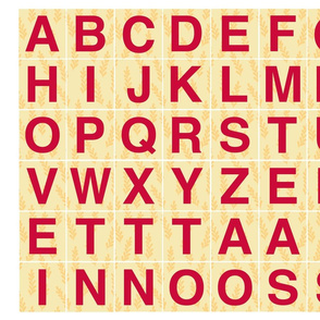 Alphabet 2 in Red on Yellow