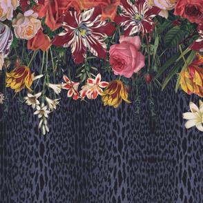 Floral Stripe Leopard