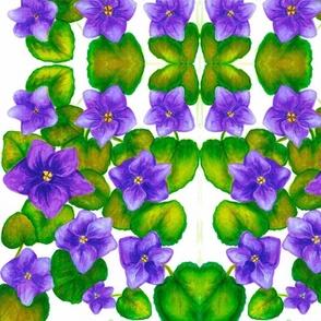 African Violet Mirror - Medium
