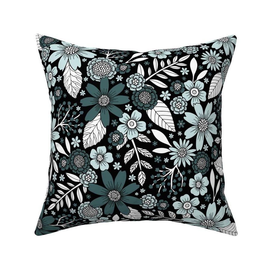 Pine & Mint Floral Pattern