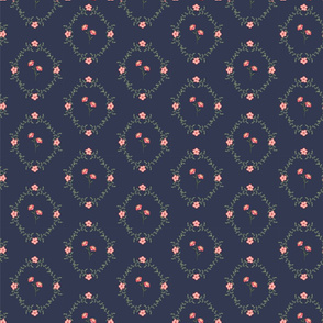 Hailles Bouquet - Navy Lacy Daisy