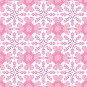 Ikat Petals Pastel Rosebud Pink