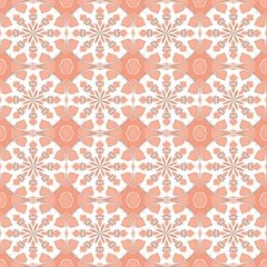 Ikat Petals Pastel Gladiola Peach