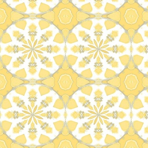 Ikat Petals Pastel Primrose Yellow