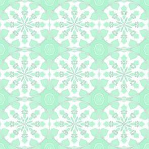 Ikat Petals Pastels, Amy's Mint Green