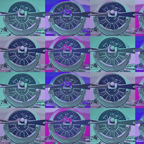 Spin Propeller Plane Girly colors, aqua, gray, magenta, purple, pink
