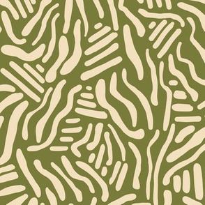 Abstract Lines - Olive