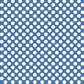 polka dots blue, small scale