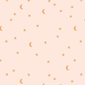 Dreamy boho night counting stars under the moon woodland camping trip christmas winter beige orange neutral SMALL
