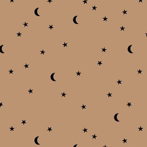 Dreamy boho night counting stars under the moon woodland camping trip spring summer terra cotta neutral SMALL