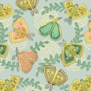vintage moths - small scale