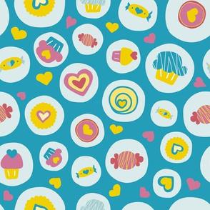 Blue circles sweet love