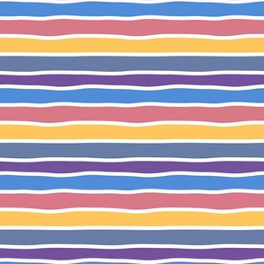 Pastel colorful hand-drawn stripes