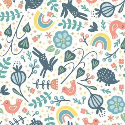 modern folk art micro quilt
