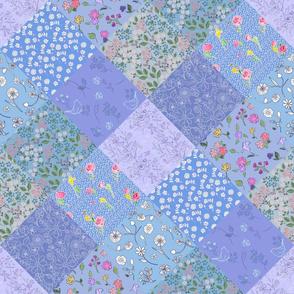 Something Blue Diamond Quilt