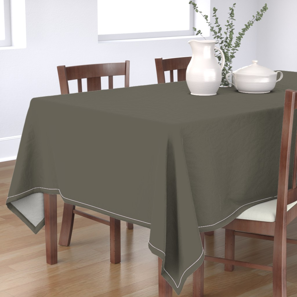 Bantam Rectangular Tablecloth featuring rikyunezumi fabric -  greyish dark green fabric, japanese colors fabric, colors of japan, traditional japanese colors fabric by andrea_lauren