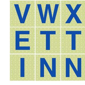 Alphabet 4 inch blue letters