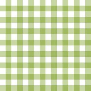"1/2"" Gingham Check (green + white)"
