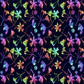 micro modern quilt rainbow flowers lg scale