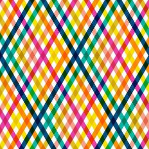 Birchdale (Multi Mini) || gingham plaid cross diamonds stripe spring summer lattice rainbow
