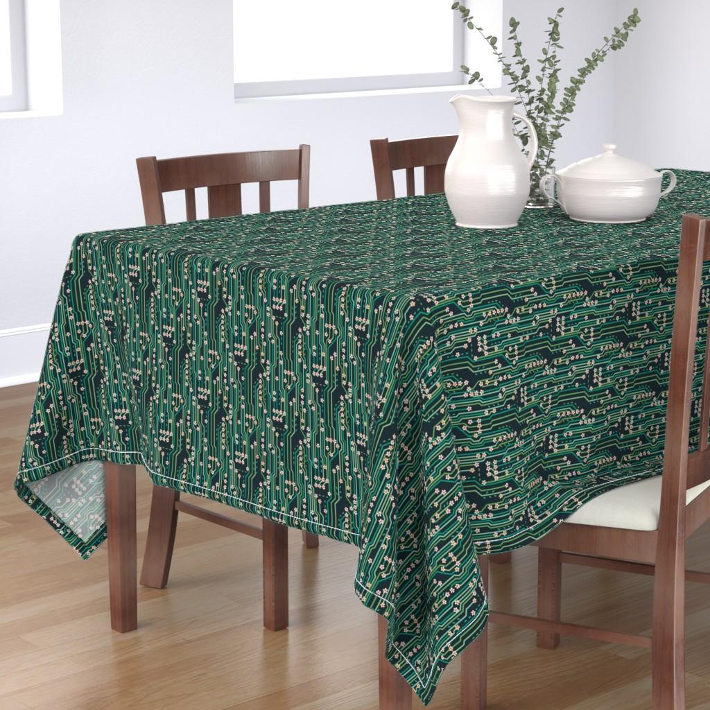 Bantam Rectangular Tablecloth featuring Nature's circuit by rachelmacdonald