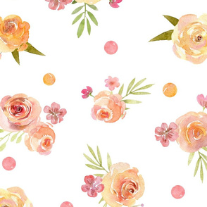 XL Lovely Spring Floral – Pink Peach Blush Flowers