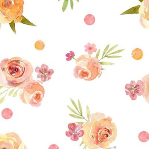 Lovely Spring Floral – Pink Peach Blush Flowers