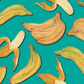 Bananas Turquoise print_repeat unit-10