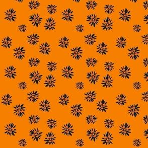 scatter floral  orange