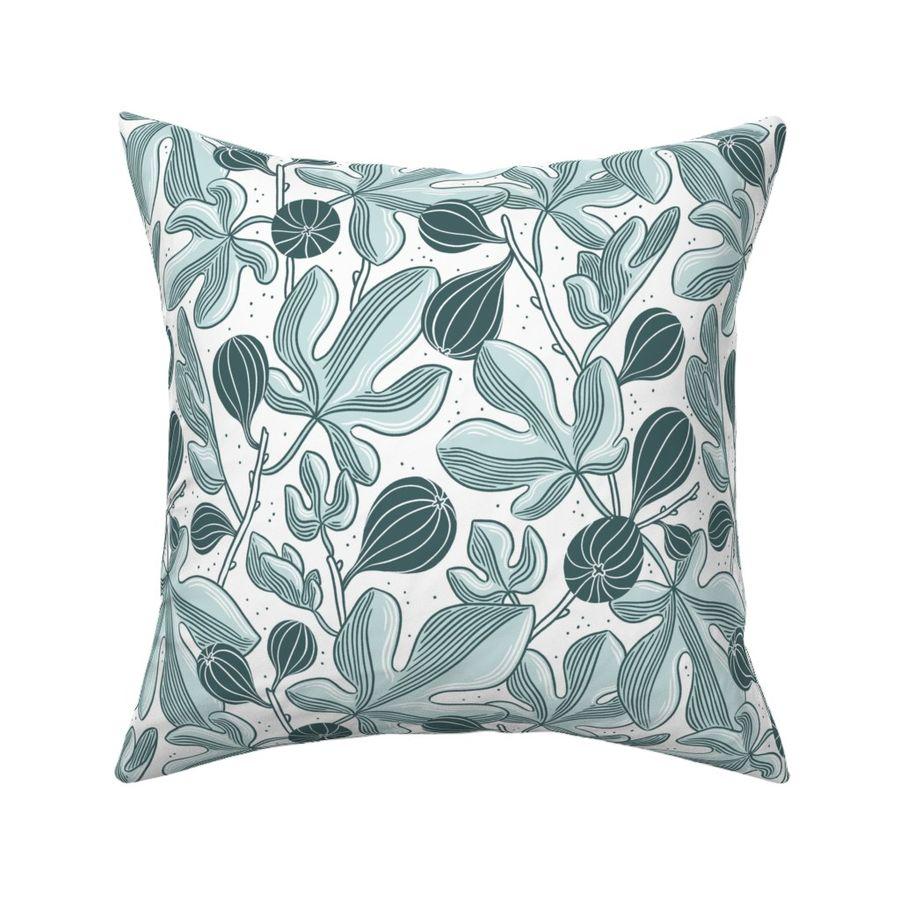 Beautiful figs mint pattern