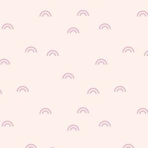 Little rainbow minimal Scandinavian style modern curves creme pink