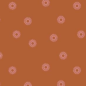 Let the sunshine in summer sunny day minimal Scandinavian style modern sun nursery design rusty pink girls