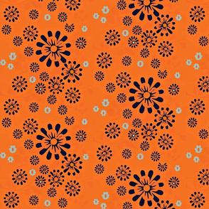ditsy floral scatter /half drop