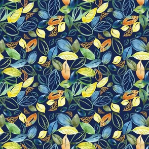 Whimsical Orchard Leaves - smaller