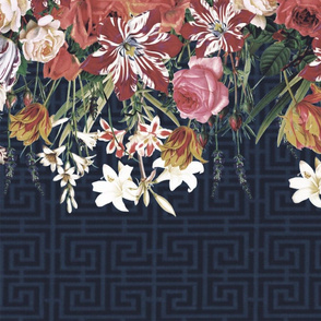 Floral Stripe Chinoise