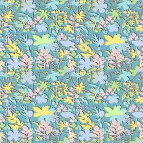 Ditsy pastel Meadow Micro Modern Quilt